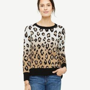 NWOT ANN TAYLOR Women's Leopard Sweater *S